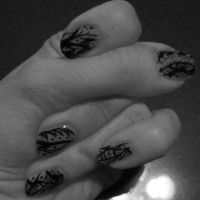 Pen and Ink Nails by Karenee-Art