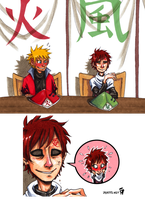 Flirting, like a Kage by kosmonauttihai