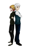 Partners in Crime - Fifth commission Norse-Blue by Amber100