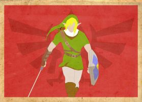 Link Red Poster by Procastinating