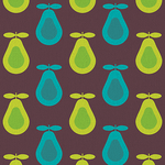 Retro Dark Pear Print by kpucu