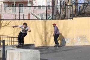 Roller Blading the Wall 17 by Miss-Tbones