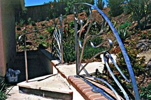 Stainless Steel Garden Rail by ou8nrtist2