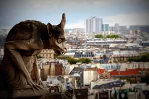 Gargoyle of Notre Dame by Miss-Picture