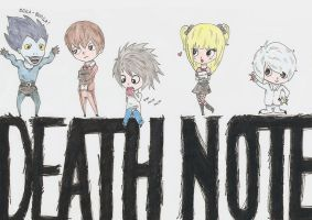Death Note Chibis by happy-smiley-robot
