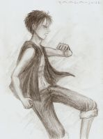 Luffy in realism by Raaga-June