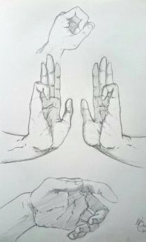 Hand sketches 2 by hugofb87