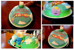 Adventure Time Cake by MissBillyF