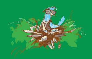 Nerdy Bird T-Shirt by deviantWEAR