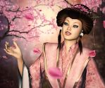 A Cascade of Cherry Blossoms by RavenMoonDesigns