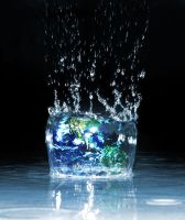Earth Splash by Nothingall3n4