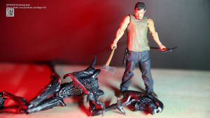 The Walking Dead Daryl Vs Aliens by Digger318
