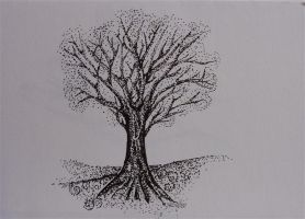 pointillism - Tree by carriephlyons