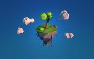 Floating Island Wallpaper by QuincyDesigns