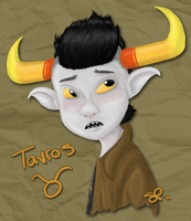 Tavros in color by VinDeamer