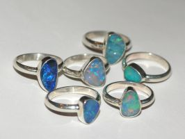 opal smooth shank rings by rcmtby11