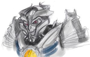 Galvatron Reaction Sketch 2 by ConstantM0tion