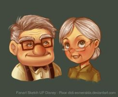 Fanart UP Disney Pixar by Didi-Esmeralda
