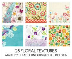 28 Floral Textures by arapax