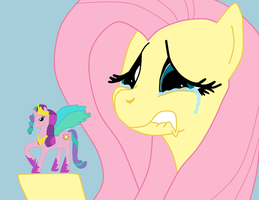 Crying Fluttershy by PhantomGamer21