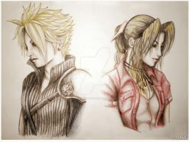 Cloud and Aerith FF7 by MaddMorgana