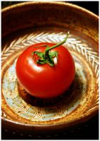 Tomato - Not an Apple in Bowl by Delacorr