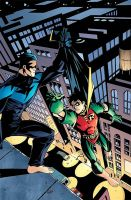 Nightwing and Robin by Final-Fantaisies