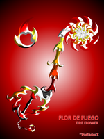 flor de fuego -fire flower- by portadorX