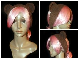 Fuzzy Teddy Bear Headband by rainbowdreamfactory