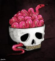 snake brain by berkozturk