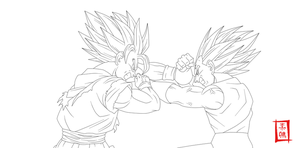 Rival For Life Lineart by SnaKou