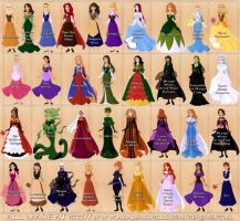 My fairy tale designs Disney-fied by Valor1387