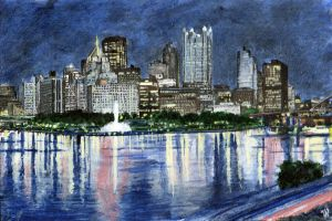 Pittsburgh Skyline by Ondal-the-Fool