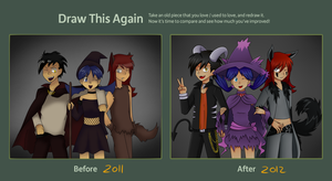 Draw this again meme - Johto Halloween by Eifi--Copper