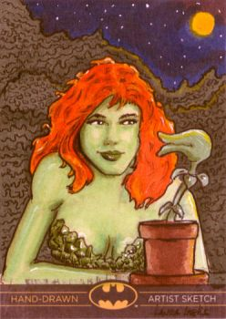 Poison Ivy AP Sketch card by LauraInglis