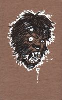 Cardboard doodle 13 - Wolfman by SHAN-01