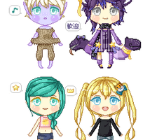Pixel Doll Req Batch 1 by naoyi