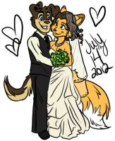 Our Wedding Day by Capricornfox