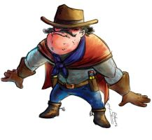 Draw Cowboy Color by webion