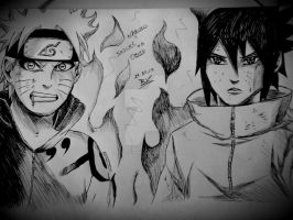 Naruto and Sasuke Vs Obito / Cap. 650/ Bedtime by Robert-Sennin
