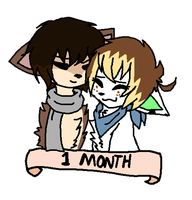 1 Month Together anniversary by J0LIA