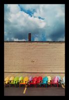rainbow chairs by fahrmboy