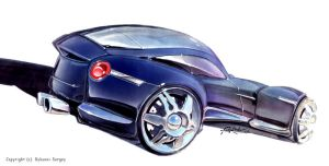 blue car concept by Rykunov