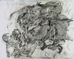 New Avengers 16.1 pages 2 and three pencils by NealAdams