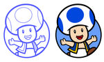Toad Character Select Icons by GreenMachine987