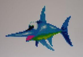 Enguarde Bead Sprite by monochrome-GS
