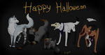 Happy Halloween - Wolf Art by Tenshin4ever