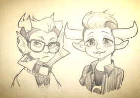 Eridan And Tavros by QuackingMoron