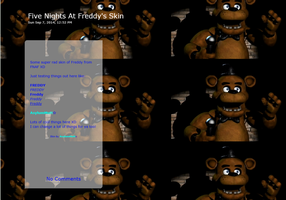 Freddy - Five Nights At Freddy's Journal Skin by AsylumMutt