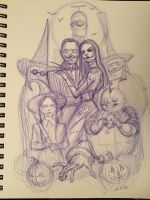 Addams Family Before Christmas by AlexRuizArt